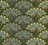 Gestileerd pauwen naadloos vectorpatroon Royalty-vrije Stock Foto