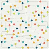 Gestileerd puntpatroon De samenvatting stileerde moleculaire geïsoleerde vectorachtergrond Stock Afbeeldingen