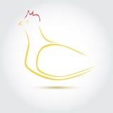 Gestileerd vectorbeeld van een kip Stock Afbeeldingen