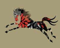 Gestileerd wild paard royalty-vrije illustratie