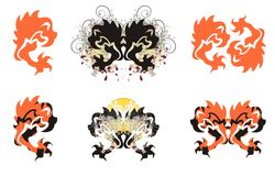 Gestileerde adelaarssymbolen Royalty-vrije Stock Foto