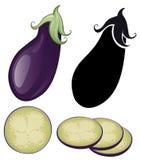 Gestileerde aubergine Stock Fotografie