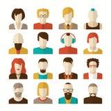 Gestileerde avatars van karaktermensen Royalty-vrije Stock Foto's