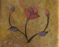 Gestileerde bloem die op steen wordt ingelegd royalty-vrije stock foto