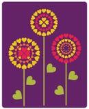 Gestileerde bloemen Royalty-vrije Stock Foto's