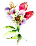 Gestileerde bloemen Royalty-vrije Stock Foto