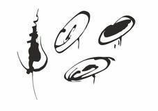 gestileerde Bloemen, inkt, vector, grafiek vector illustratie