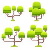Gestileerde boom op witte achtergrond Stock Foto's
