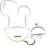 Gestileerde chef-kok Royalty-vrije Stock Afbeeldingen