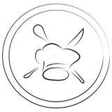 Gestileerde Chef-kok met Hoedenreeks vector illustratie