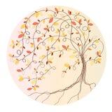 gestileerde de herfstboom Stock Afbeeldingen