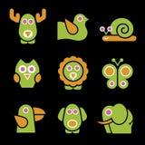 Gestileerde Dieren vector illustratie