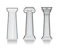 Gestileerde Griekse kolommen Royalty-vrije Stock Foto