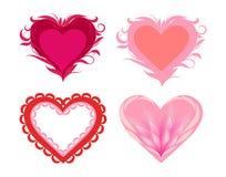 Gestileerde harten Stock Afbeeldingen
