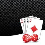 Gestileerde het gokken achtergrond Stock Foto's