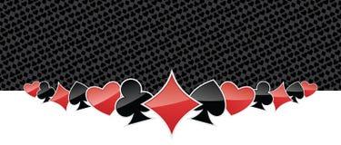 Gestileerde het gokken achtergrond Royalty-vrije Stock Afbeeldingen