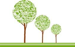 Gestileerde het groeien bomen Stock Afbeelding