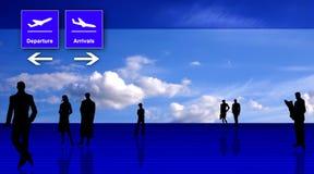 Gestileerde interi van het luchthavenbureau royalty-vrije illustratie