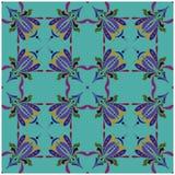Gestileerde Irisbloem Naadloos bloemen kleurrijk patroon royalty-vrije illustratie