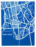 Gestileerde kaart van Miami, Rio de Janeiro en Hong Stock Foto