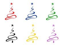 Gestileerde Kerstbomen Royalty-vrije Stock Foto's