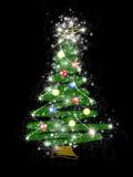 Gestileerde Kerstboom royalty-vrije illustratie