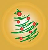 Gestileerde Kerstboom Stock Afbeeldingen