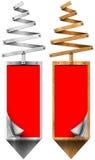 Gestileerde Kerstboom Verticale Banners Royalty-vrije Stock Fotografie