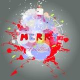 Gestileerde Kerstmiskaart Royalty-vrije Stock Foto