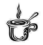 Gestileerde koffiekop Stock Afbeeldingen