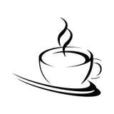 Gestileerde koffiekop Stock Foto's