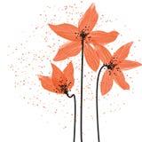 Gestileerde Lillies stock illustratie