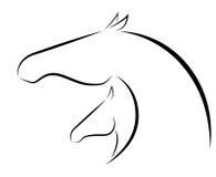 Gestileerde merrie en veulen vector illustratie