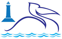 Gestileerde pelikaan Stock Afbeeldingen