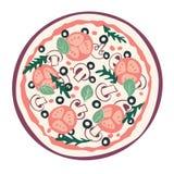 Gestileerde pizza vector illustratie
