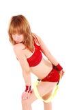 Gestileerde professionele cheerleader. Royalty-vrije Stock Afbeeldingen