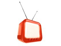 Gestileerde retro TV - het knippen weg Stock Fotografie