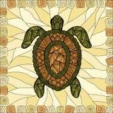 Gestileerde schildpadstijl zentangle Stock Fotografie
