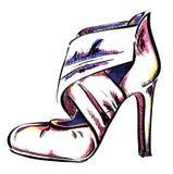 Gestileerde schoenen Royalty-vrije Stock Afbeeldingen