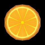 Gestileerde sinaasappel met de structuur van de driehoeksveelhoek Stock Afbeeldingen