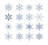 Gestileerde sneeuwvlokken royalty-vrije illustratie
