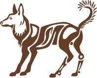 Gestileerde Spitz Hond Stock Afbeelding