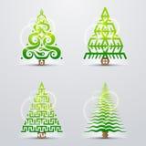 Gestileerde symbolen van Kerstmisboom Royalty-vrije Stock Afbeelding