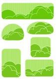 Gestileerde tuinelementen Stock Afbeeldingen