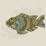 Gestileerde vectorvissen Royalty-vrije Stock Foto's