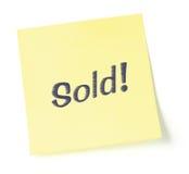 Gestileerde Verkochte Nota Stock Foto's