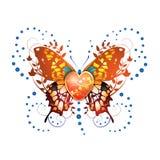 Gestileerde vlinder Stock Afbeeldingen