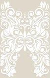 Gestileerde vlinder met bloemenornament De achtergrond van het huwelijk kaart Royalty-vrije Stock Afbeeldingen