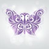 Gestileerde vlinder Vector illustratie Mooie Vlinder Stock Afbeeldingen