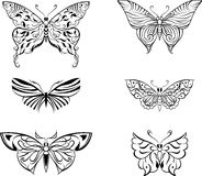 Gestileerde vlinderreeks Stock Afbeeldingen